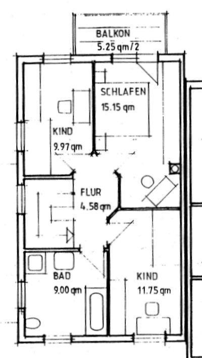 Grundriss Wohnung Nr 2
