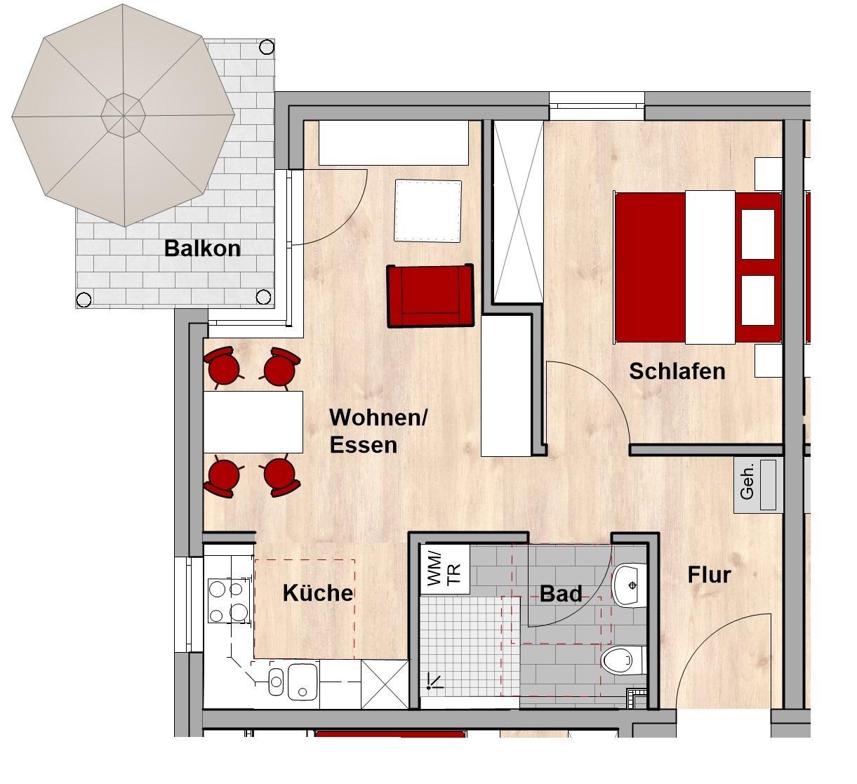 Grundriss Wohnungstyp A
