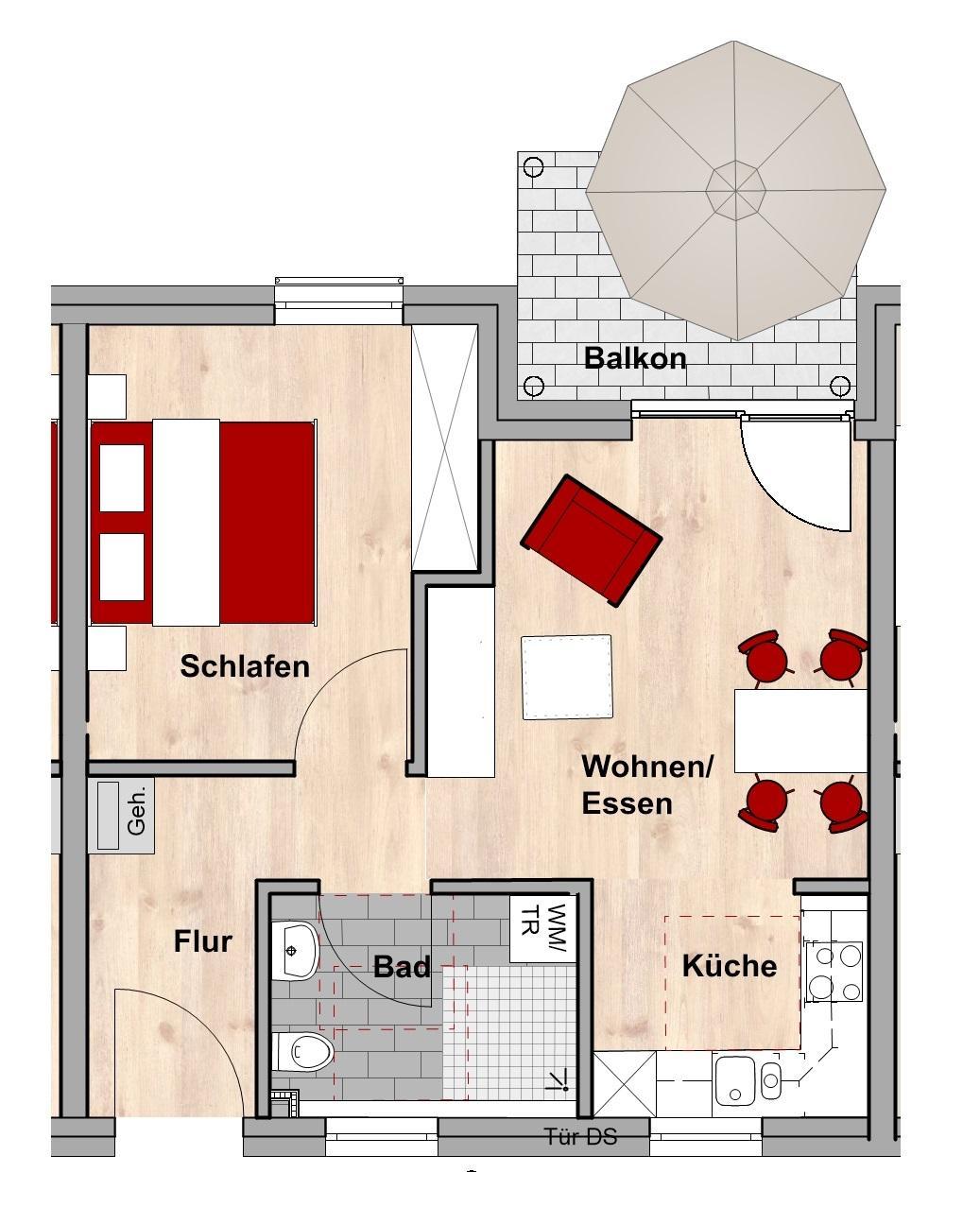 Grundriss Wohnungstyp B