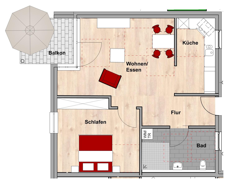 Grundriss Wohnungstyp C